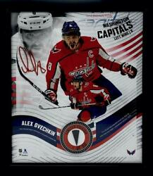 Alex Ovechkin Washington Capitals Framed 15 X 17 Game Used Puck Collage Le 8/50