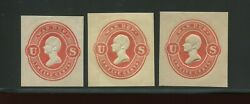 Uo61-uo63 War Dept Unused Cut Square Set Of 3 On White Amber And Cream By 612