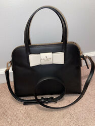 Black Kate Spade Purse With White Bow $50.00