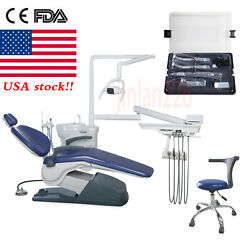 Dental Unit Chair Hard Leather Computer Controlled Dc Motor Stool/high Low Kit