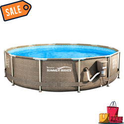 Sale Summer Waves Active 12ft X 30in Above Ground Frame Swimming Pool With Filte