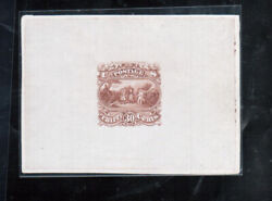 Usa 121-e1a Extra Fine Burgoyne Essay In Light Brown Red Die On India Paper