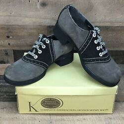 """Vintage 1970's Kinney """"teen-a-bouts"""" Girls Shoes Size 3 Nos From 1971 Unworn"""