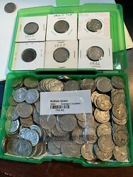 250 Coin Lot All W/ Dates Buffalo Nickels 1916 To 1938 D Indian Head 6.25 Rolls