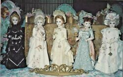24antique French Fashion Victorian Lady Doll Bustle Dress Variations Pattern