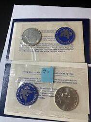 1971and1972-s Eisenhower 40 Silver Dollar Uncirculated Envelope And Coa 1