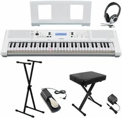 New Yamaha Ez-300 X Stand / X Chair / Headphones / Pedal Set Keyboard From Japan