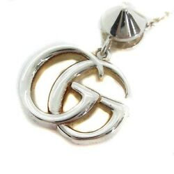 Necklace Pendant Ag925 Double Stone Silver Blue White 527399 /yi17 Oh