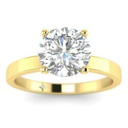 1ct D-vs1 Diamond 4-prong Engagement Ring 18k Yellow Gold Any Size