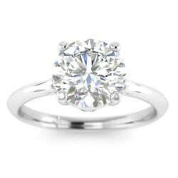 1ct D-vs1 Diamond Cathedral Engagement Ring 18k White Gold Any Size