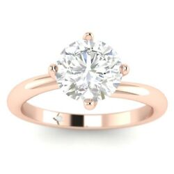 1ct D-vs1 Diamond Bypass Engagement Ring 18k Rose Gold Any Size
