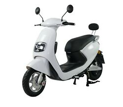 Scooter Andeacutelectrique - Lycke Classic50 - Blanc - 2000 Watts - Batterie 60v20ah