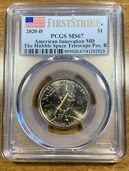 2020-d 1 Innovation Dollar Hubble Space Telescope First Strike Pcgs Ms67 Pos B