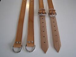 Porsche 356 Brown Leather Belts Rear Back Seat Luggage Suitcase Straps Hand Made