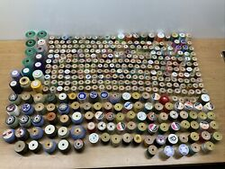 Huge Lot Of 370 Spools Of Thread Quilting Sewing Full