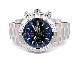 Breitling Avenger Ii Stainless Steel 43mm Black Dial A13381111b1a1