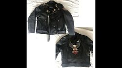 Vintage Harley Davidson Motorcycle Xl Mvp Leather Jacket Patches And Vintage Pins