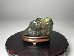 A Chinese Ming Dynasty Nephrite Jade Carving Of A Duck With Branch