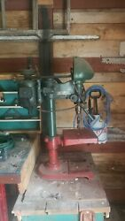 Vintage Delta Rockwell Bench Drill Press With Many Different Drill...