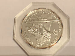 Illinois Silver Proof 150 Years Of Progress Sesquicentenial Encased Medal 1968