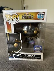 Tchaka Funko Hollywood Exclusive Funko Pop Marvel Black Panther 867 W/protector