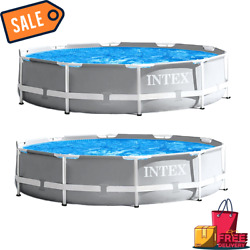 Sale Intex Prism Frame Above Ground Swimming Pool With 330 Gph Filter Pump 2 Pa