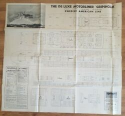 Gripsholm Swedish Americandeck Plan Issued For 1939 Around South Amer Cruise
