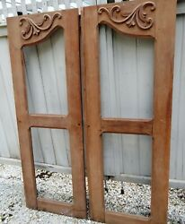 Antique Victorian Door Frames From Old Cupboard/armoire Architectural Salvage.