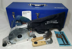 Crain Vinyl Welding Power Groover Saw In Case And Knifes