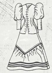 17-26antique French Fashion/gibson Lady Doll@1890's Skirt Jacket/dress Pattern