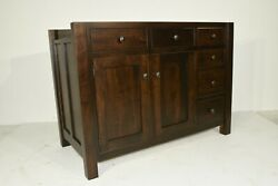 Dutchcrafters Amish Mission Kitchen Island With Self Storing Extensions