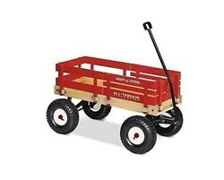 Radio Flyer All-terrain Cargo Wagon For Kids, Garden And Cargo, Red New