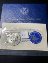 1972-s Eisenhower 40 Silver Dollar Uncirculated Envelope And Coa 4 Very Nice