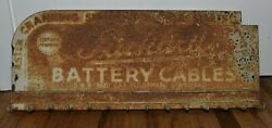 Vintage Packard Battery Cables Gas Oil Station Advertising Display Rack Sign