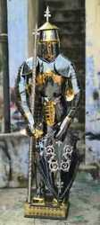 Medieval Full Suit Of Armour In Black Golden, Silver Finish Halloween Costume A1