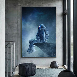 Modern Art Astronaut Sitting In Space Canvas Painting Posters And Prints Wall