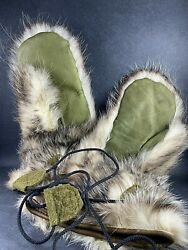 Vintage Wwii Us Army Air Corps Inuit Eskimo Expedition Fur Over Mitts
