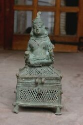 Antique Brass Shiva Trinket Box From Kerala Temple Worth Collectable