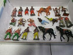 Vintage Britains Indians And Horses Lot