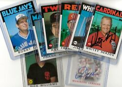 Autographed 1986 Topps Stars And Deceased Players - Choose From Many