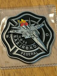 New Orleans Federal Firefighters Challenge Coin F139 Arff Fire Iaff Jet 3d