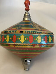 Vintage Large Tin Litho Choral Toys Spinning Tops Germany / As Is