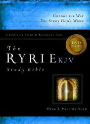 The Ryrie Kjv Study Bible Bonded Leather Black Red Letter By Charles Ryrie