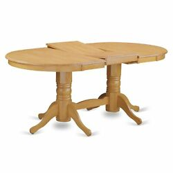 Vaav7-oak-c 7 Pc Dining Room Set-oval Table With Leaf And 6 Dining Chairs