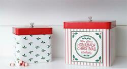 New Retro Vintage Mrs. Claus Christmas Cookie Jar Tin Baking Container Canisters