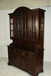 Dutchcrafters Amish Queen Anne 2-piece Hutch, Cherry Wood, Traditional Finish