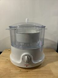 Sunbeam 8 Quart Food Steamer And Rice Cooker Model 4713 / 5710 Missing 1 Tray