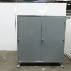 Strong Hold 66-pb-244g 4 Shelf Industrial Tool Parts Storage Cabinet 72x24x78