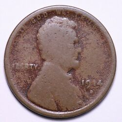 1914-d Lincoln Wheat Cent Penny Choice Good+ Free Shipping E741 Rceq