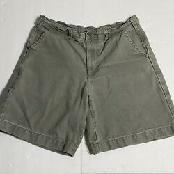 Vintage Menandrsquos Green Stand Up Shorts Size 34 Organic Cotton